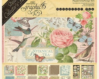 Botanical Tea-Deluxe Collector's Edition - Graphic 45 12 x 12 Cardstock Collection