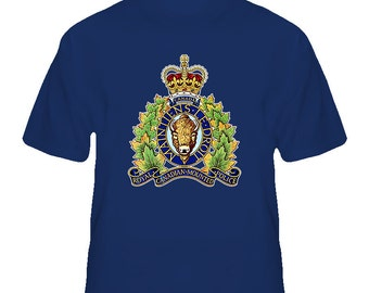 Rcmp Canadian National Police Logo T Shirt