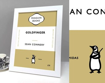 James Bond Goldfinger Movie - Penguin style book cover
