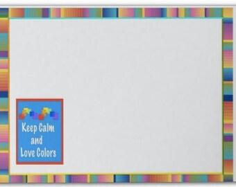 Post-its ,Hot Pink Serape Serape ,Keep Calm & Love Colors,Teacher Gift