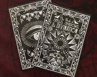 Black Book of Spells. A5 Notebook. Spell Book. Book Of Shadows. Book Of Spells. Lined Notebook. Journal. Magic Journal. Grimoire.