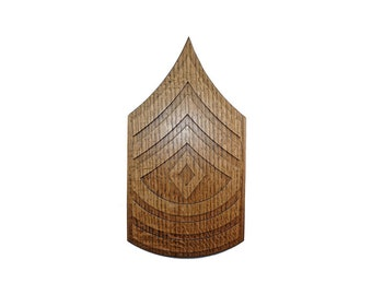 ARMY 1SG Rank Plaque E8 First Sergeant Carved Wall Wooden Military Army Promotion Retirement Gift
