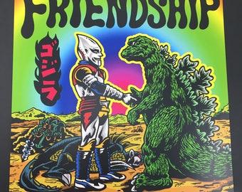 Kaiju Friendship Forever Print
