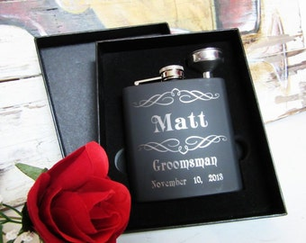 Unique Wedding Party Gift Personalized Flask