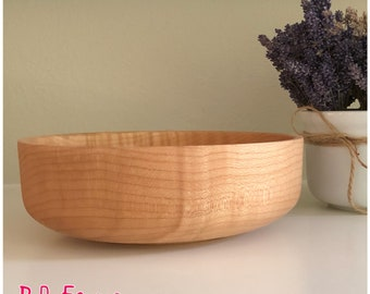 Medium Sized Figured Maple Wood Bowl - #33