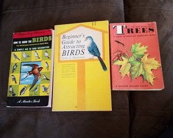 3 books 2 bird guides and 1 tree guide