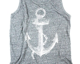 Anchor Tank Top - Mens Tank Top - Nautical - Ocean Shirt - Small, Medium, Large, XL, 2XL