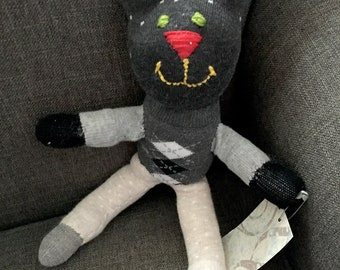 Argyle Teddy Sock Doll