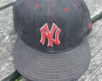 aec0b6176091f ... netherlands new york yankees 1996 world series hat vietnamese vtg new  york yankees new era denim