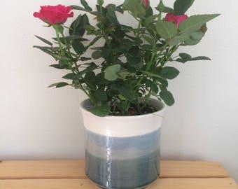 4 inch Planter, Cactus Planter, Herb Planter, Succulent Pot, Coastal, Pottery,Handmade, Seascape,Flower Pot, in Stock, Ready to Ship