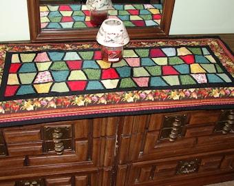 Handmade Quilt Table Runner for Coffee or Dinner Table
