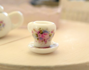 dollhouse miniature cup  and saucer