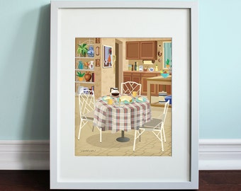 The Golden Girls Kitchen - The Golden Girls, Golden Girls Art Print, TV sitcom