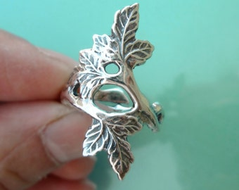 C1 -18, Autumn Leaf ring Unique Sterling Silver Jewelry Adjustable ring Sterling silver ring branch ring tree ring Not spoon ring R-114
