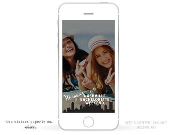 NASHVILLE SNAPCHAT Filter - Nashville Bachelorette Snapchat - Nashville Skyline Snapchat Filter - Nashville Bachelorette Geofilter