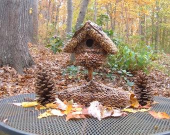 Handmade Functional Birdhouse, Outdoor Birdhouse or Indoor Decor, Elegant Garden Art, Home Decor, Trending Item, gift, birdhouses for sale