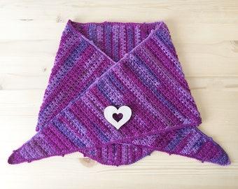Crochet baktus, crochet neck warmer, crochet scarf, triangular baktus, triangular scarf.