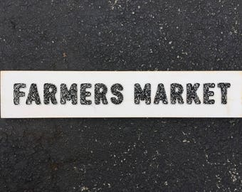 READY TO SHIP Farmers Market String Art Board with Distressed Edges