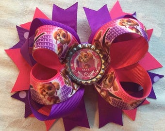 Large Skye Paw Patrol Hair Bow with Free Shipping!