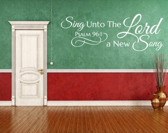 Religious wall decal. Sing Unto The Lord - CODE 186V1