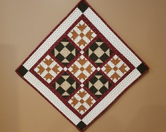 Crowns and Crosses Quilted Wall Hanging or Table Topper