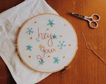 Custom Made Embroidery Hoop