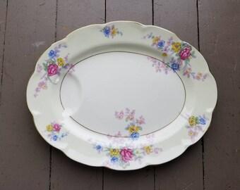 "Vintage Haviland Avalon Pattern 12"" Serving Platter"