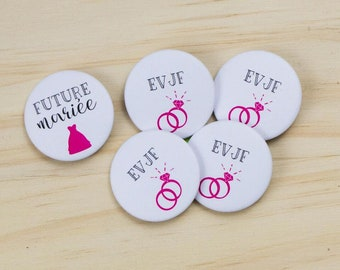 4 badges + 1 bride bachelorette party