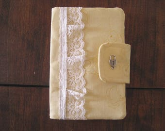 Yellow Bunny Clutch - White Lace - Smaller Size - FINAL SUPER SALE !!!