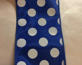 Ribbon Wired  Blue with White polkadot