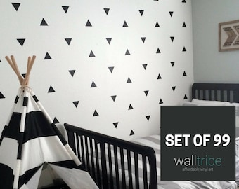 Triangle Wall Decal - Triangle Wall Decal Vinyl - Vinyl Triangle Wall Decal  0036