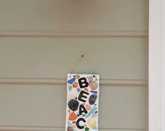BEACHIN'  Mosaic Plaque for Beach House