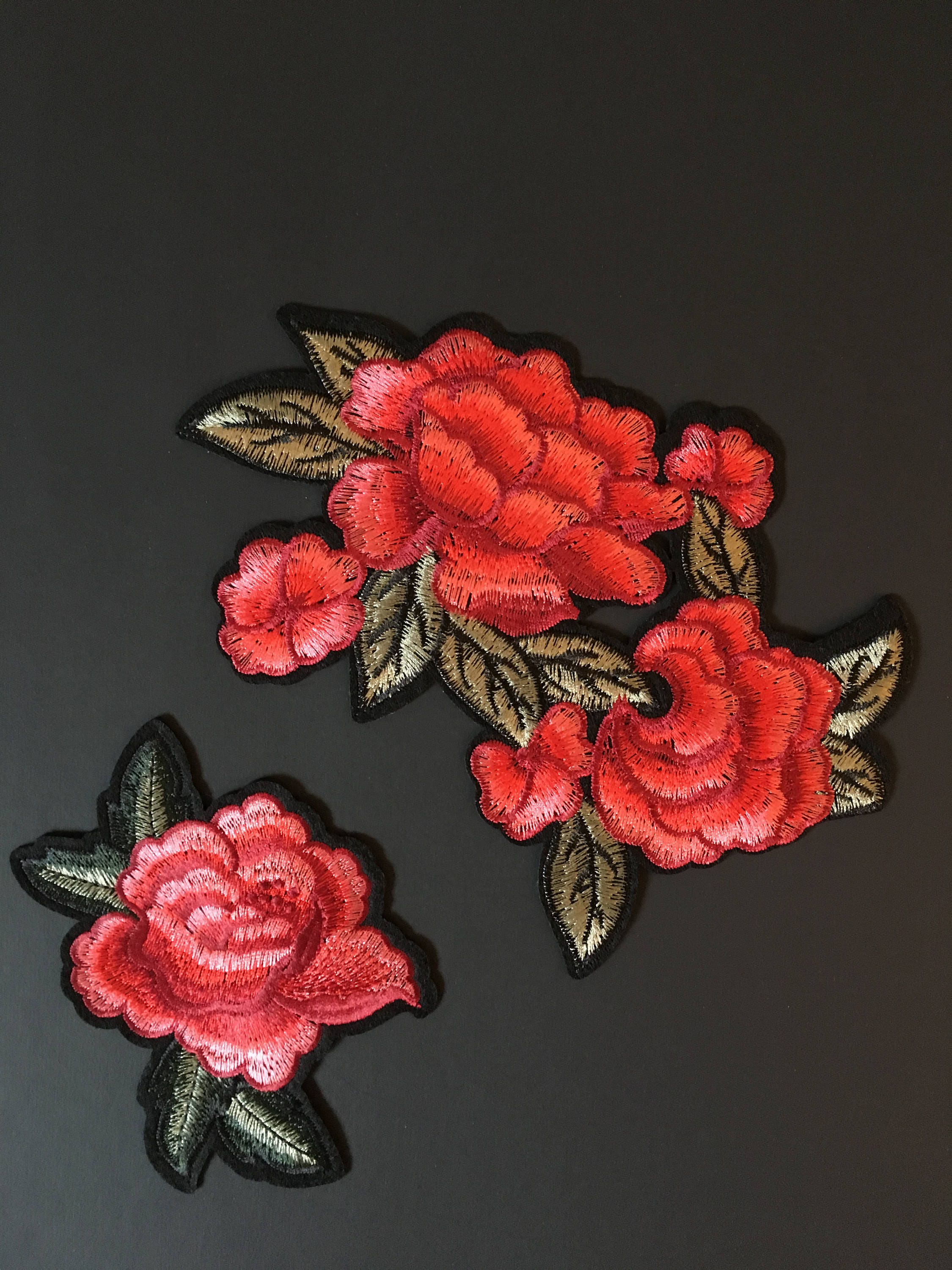 Iron On Patch Embroidery Patch Gucci Style Patch Patches Rose Patch