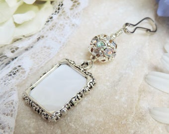 Wedding Bouquet Photo Charm. Sparkly Bridal Bouquet Charm. Gift For The  Bride. Small