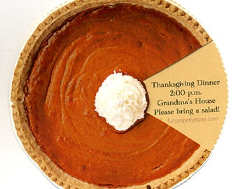 Thanksgiving Invitation Kit - Pumpkin Pie - Printable PDF