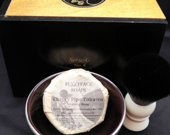 Wet Shaving Kit-Cigar Box-Shaving Soap-TurnNShave Brush