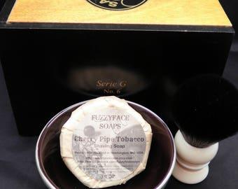 Wet Shaving Kit-Cigar Box-Shaving Soap-TurnNShave Brush