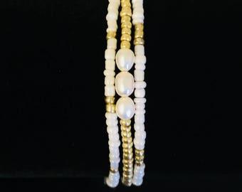 Freshwater Pearl Seed bead bracelet