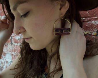 Large Horseshoe Earrings