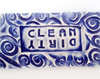 Dishwasher Magnet - Dirty or Clean magnet - Ceramic Dishwasher Magnet - dirty dishes magnet - clean dishes magnet - non-scratching magnet