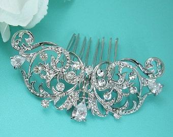 SALE! CZ Pearl Wedding Comb, Rhinestone Comb, Bridal Comb pearl, Wedding Crystal Hair Comb, Hair Comb, Wedding Accessory