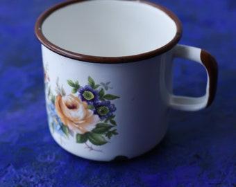 Enamelled big mug