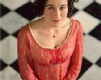 Lizzy bennet replica, Jane Austen dress,  made to measure.  Regency dress cotton red any size!