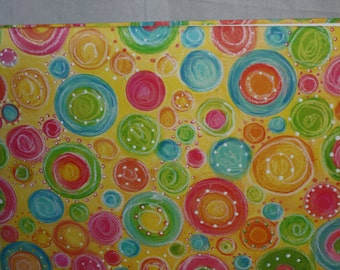Bright Color Circles 12x12 Scrapbook