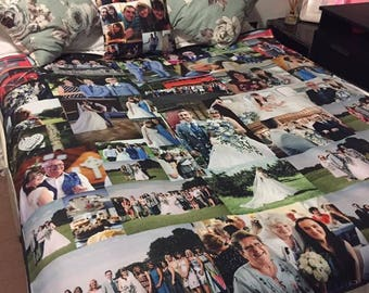 Large Photo Memory Blanket Memories Keepsake Dementia Anniversary Birthday