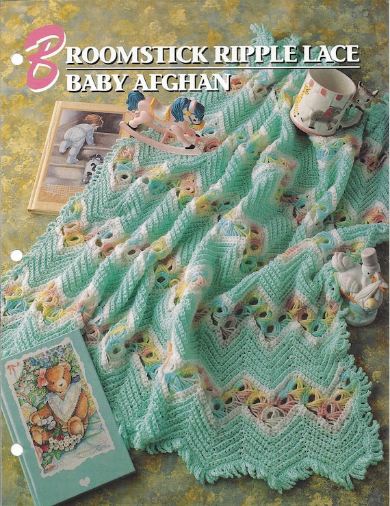 Broomstick Ripple Lace Baby Afghan Pattern Annies