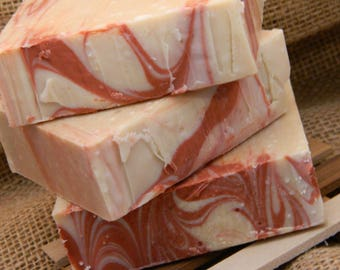 Champagne Pomegranate Goats Milk Soap