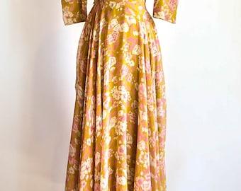 Handmade 1970's floral print dress