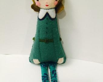 Viktorianischen Stil Mädchen Plushie. Softie. Fühlte mich Doll.