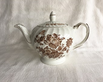 Ellgreave Charlotte Royal Crownford Teapot Vintage Ironstone Made in England